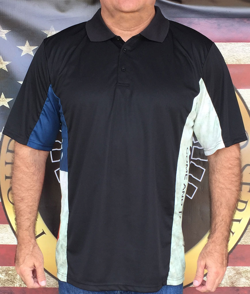 Defiant Texan Distressed Polo Shirt