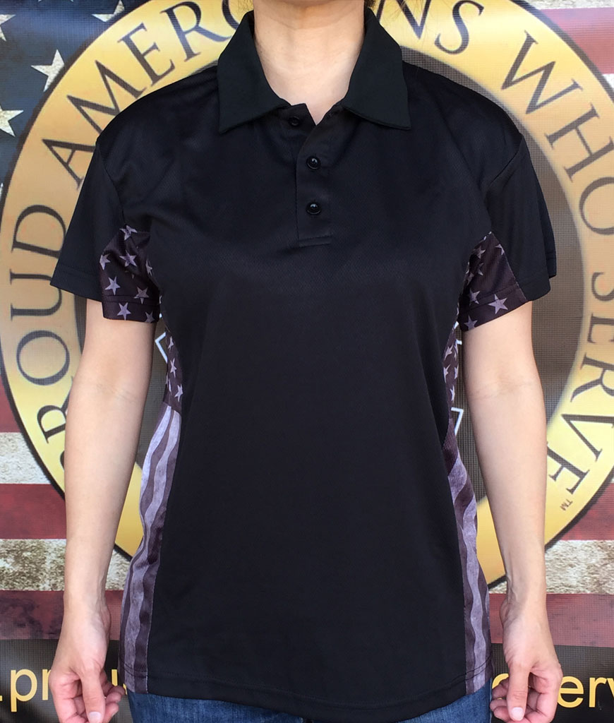 Women's subdued Patriot Polo Shirt