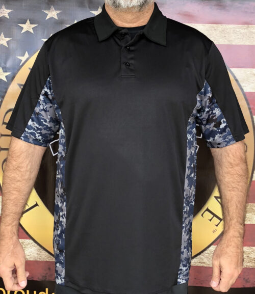 Navy Camo Polo Shirt