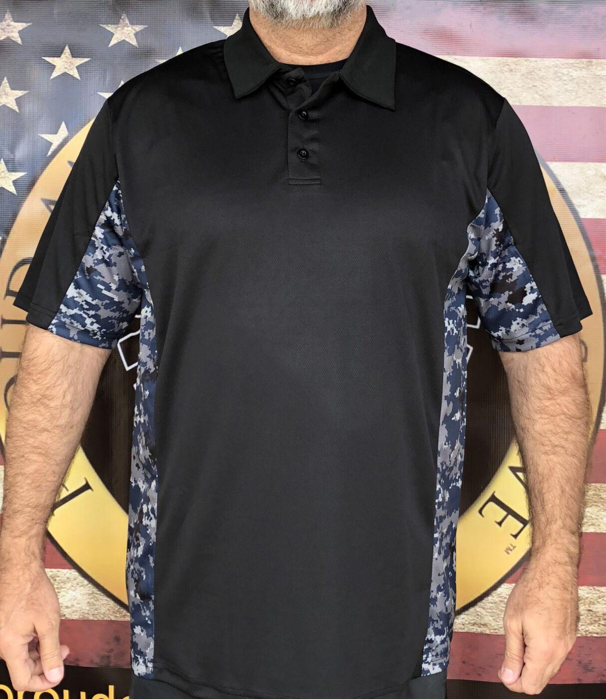 Navy Camo Polo Shirt