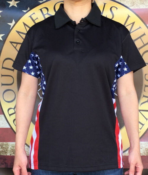 Women's patriot polo shirt