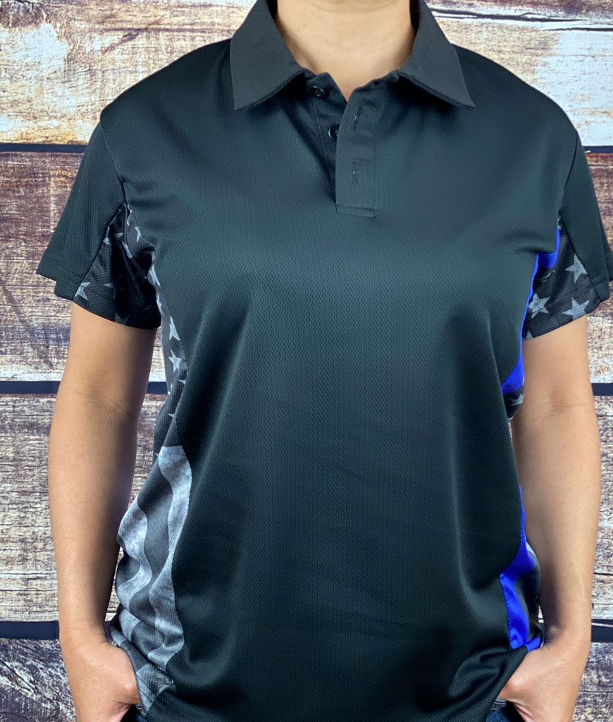 Womens Back the Blue Polo Shirt